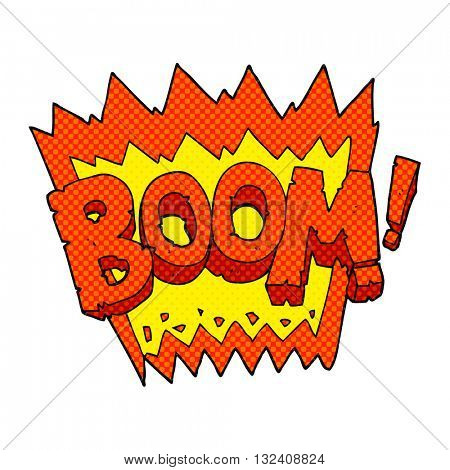 freehand drawn cartoon boom symbol