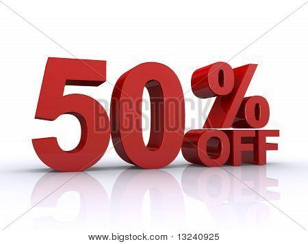 50 Prozent Rabatt