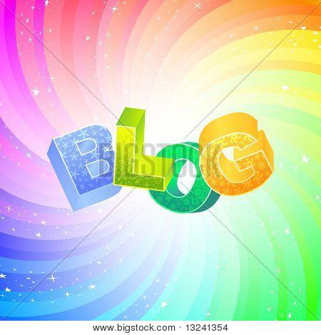 BLOG. Vector 3d illustration.