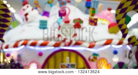 Santa's grotto decoration, Christmas concept blurred background