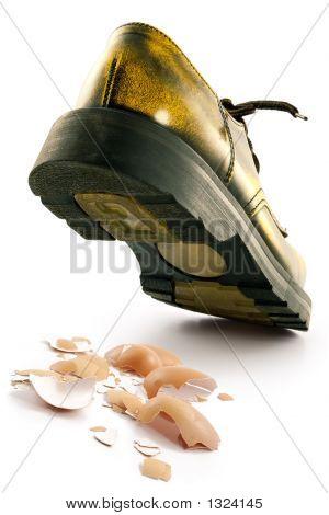 Boot Crushing An Egg