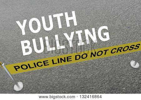 Youth Bullying Police Concept
