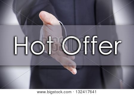 Hot Offer - Business Concept With Text