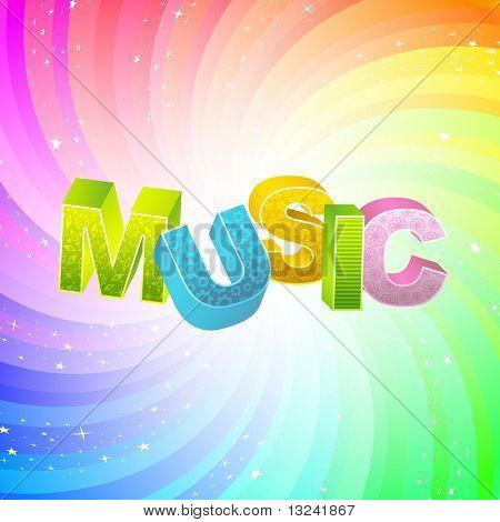 MUSIC. Vector 3d illustration.