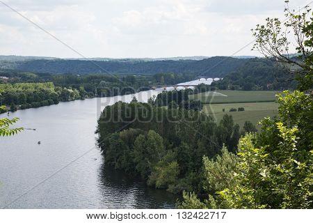 The Dordogne river winds through France's Perigord