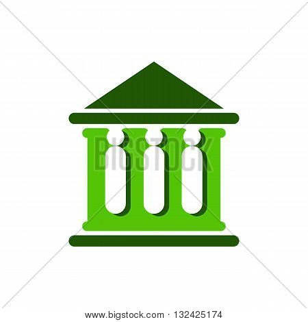Law court bank house symbol justice finance icon