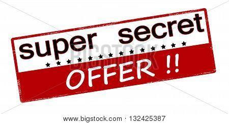 Rubber stamp with text super secret offer inside vector illustration