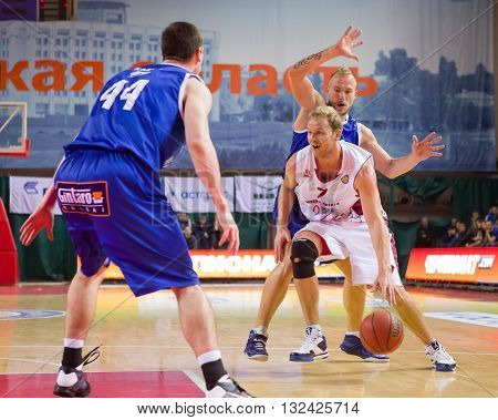 Bc Krasnye Krylia Guard Anton Ponkrashov (7) Dribbles The Ball