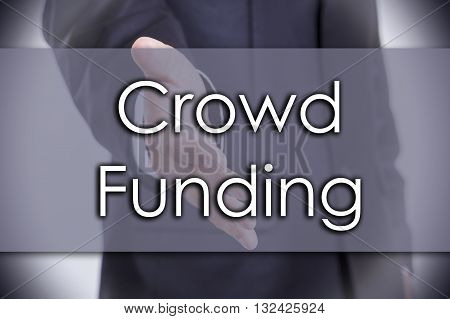 Crowd Funding - Business Concept With Text