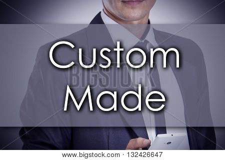 Custom Made - Young Businessman With Text - Business Concept