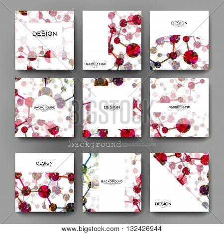 DNA molecule vector brochure template. Flyer Layout. Creative modern design