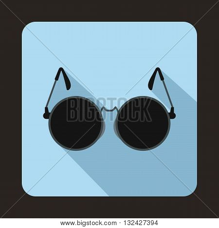 Glasses for blind icon in flat style with long shadow. Equipment symbol