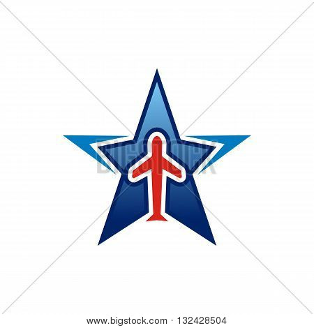 Logo Star Flit away Travel Plane Symbol
