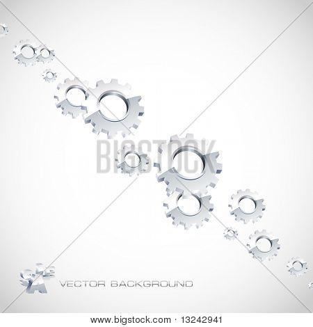 Vektor Zahnrad Hintergrund. Abstrakte Abbildung.