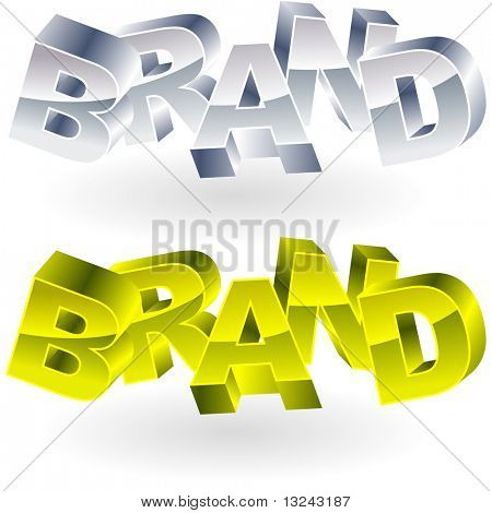 BRAND. Word collage on black background. Vector illustration.