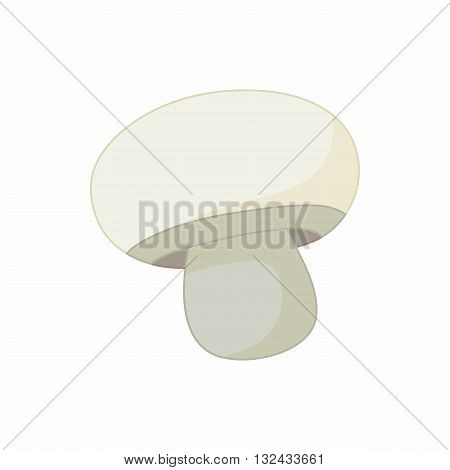 Champignon icon in cartoon style on a white background