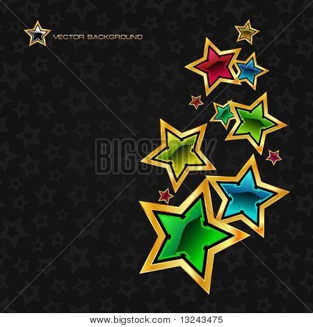 Abstract background with stars. Vector illustration.