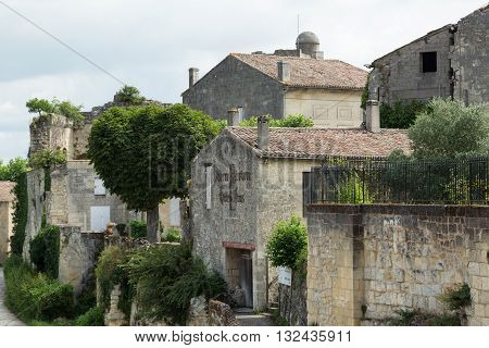 A street in the city of St. Emilion, France
