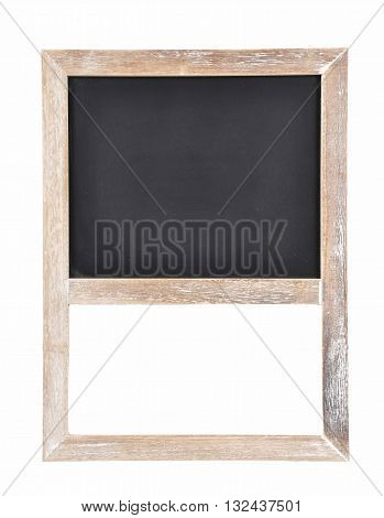 Colorful and crisp image of plate of slate for writing on white