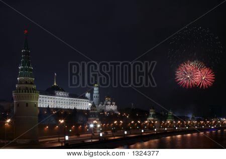 Firework Near The Kremli