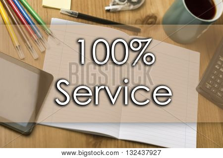 100% Service - Business Concept With Text