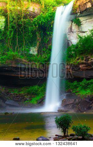 Huayluang waterfall at Phu-jong-nayoi national park in Ubonratchathani province, Thailand