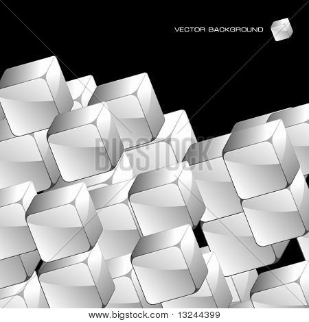 Abstract background with transparent boxes.