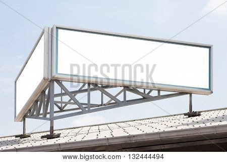 Old style blank big billboard on building