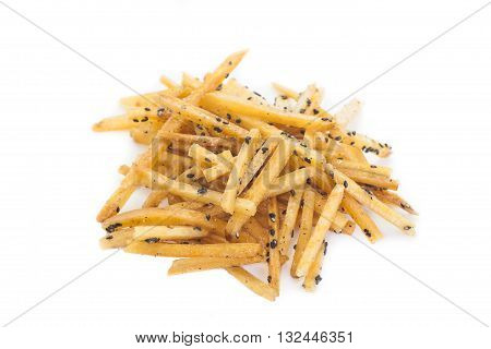 Brown Sugar - Glazed sweet potato fries with black sesame