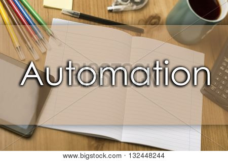 Automation - Business Concept With Text