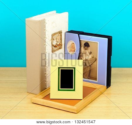 Photo frames and albums. suitable for children's photos
