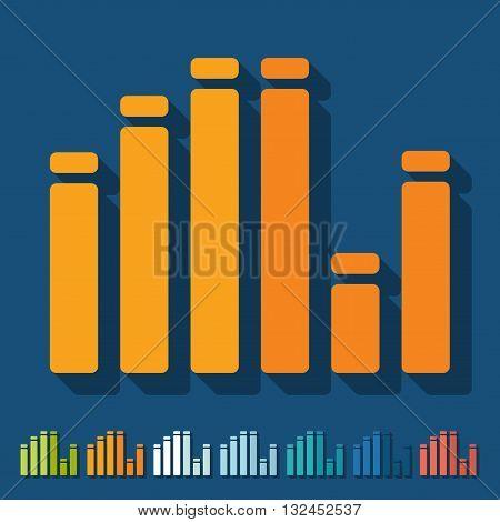 It is a illustration Flat design: equalizer