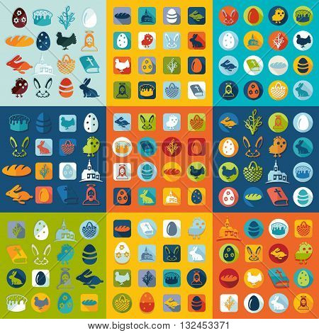 It is a illustration Set of easter icons