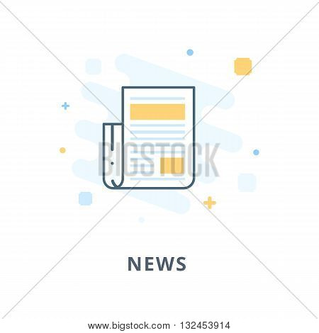 Creative web design, news flat icon. Design illustration and outline icons. Design elements for apps, web or ads