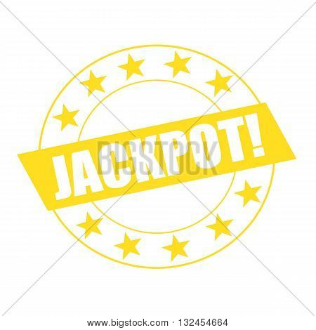 JACKPOT white wording on yellow Rectangle and Circle yellow stars