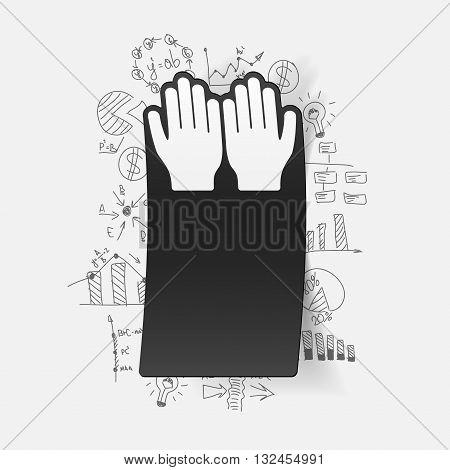 It is a illustration Drawing business formulas: prayer
