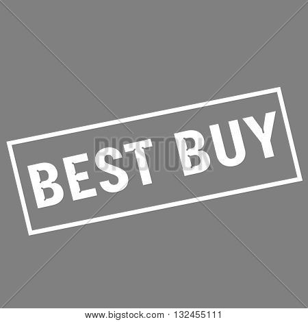 best buy white wording on rectangle gray background
