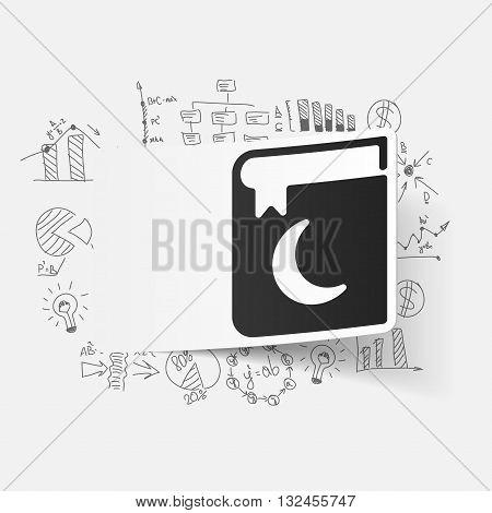 It is a illustration Drawing business formulas: koran