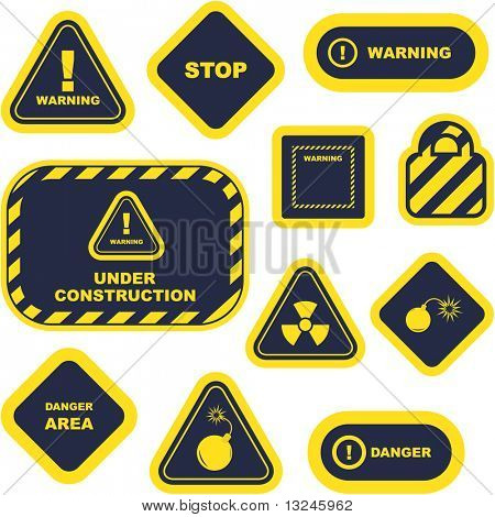 Warning vector signs. Great collection.