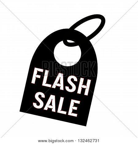 flash sale white wording on background black key chain