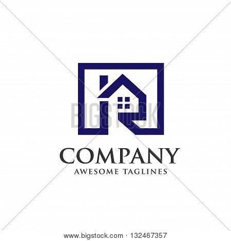Real estate with letter R concept ,real estate logo
