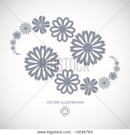 Collection of flowers for design. Vector great collection.