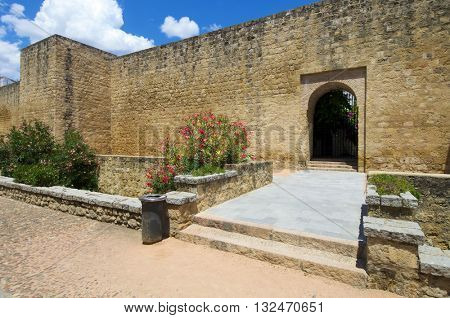 forefront of the ancient city walls of Cordoba, Andalucia, Spain.