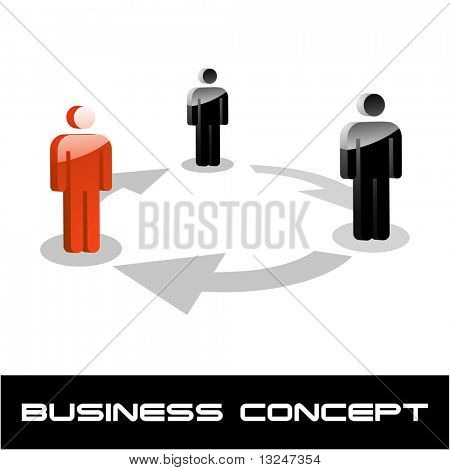 Team-Business-Konzept. Vektor-Illustration.