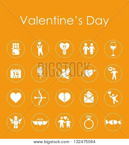 It is a illustration Set of Valentine's Day simple icons