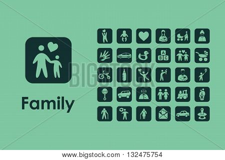 It is a set of family simple web icons