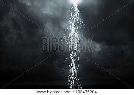 Lightning - A dark cloudy sky with lightning