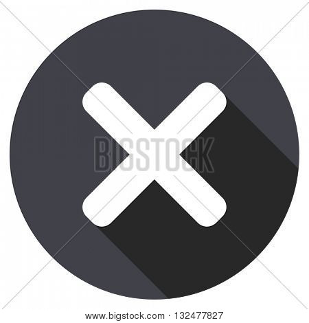 cancel vector icon, round flat design button, web and mobile app illustration