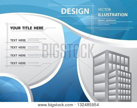 Abstract blue curve templete annual report brochure flyer design template abstract flat background textured frame and border vector