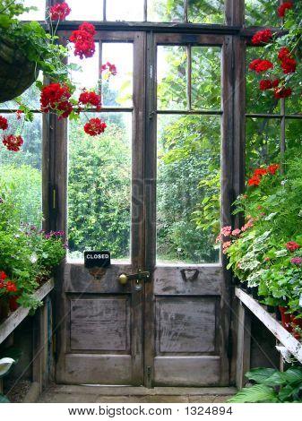 Closed Door In A Secret Garden